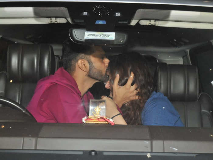 rahul vaidya cuddles and kisses disha parmar before leaving for khatron ke khiladi 11