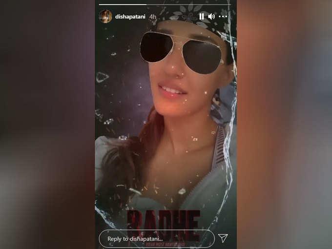 Disha Patni's Instagram Story