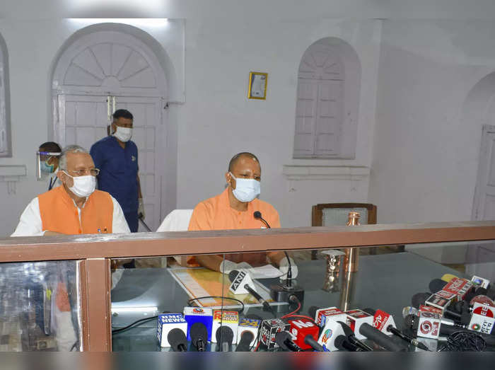 Bareilly: UP CM Yogi Adityanath addresses the media after inspecting COVID-19 pr...