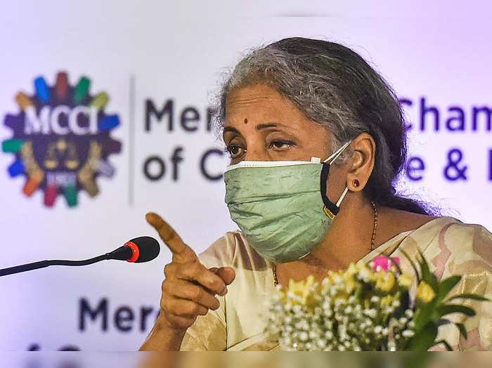 Kolkata: Union Minister of Finance and Corporate Affairs Nirmala Sitharaman duri...