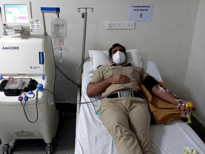 Delhi Police plasma donation