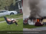 woman from maryland cecil county sets her house on fire and sat down in a lawn chair to watch it burn