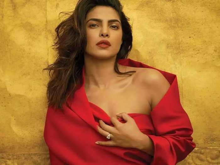 priyanka chopra brutally trolled for wearing red jacket with image of goddess kali in marathi