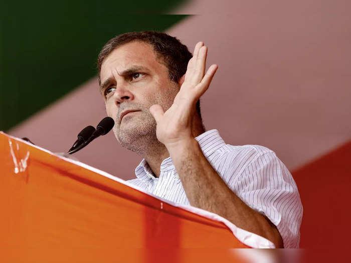 Uttar Dinajpur: Congress leader Rahul Gandhi addresses a public meeting for Asse...
