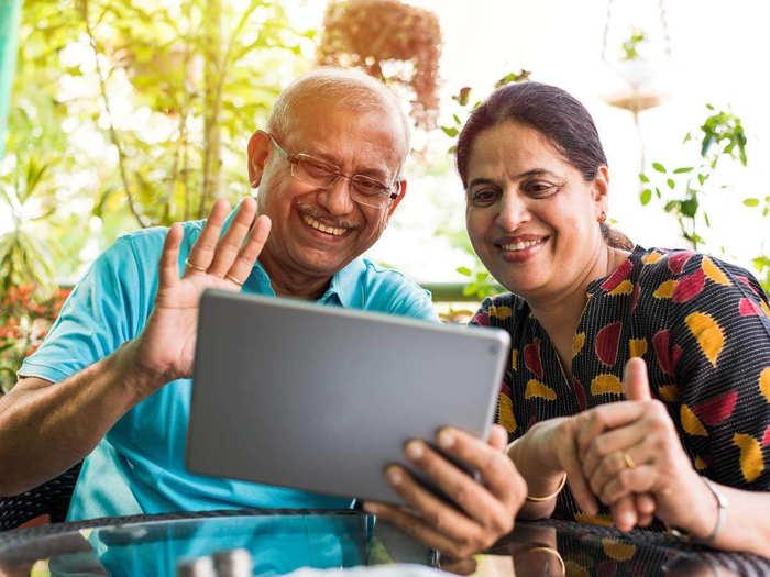 Grandparents using technology