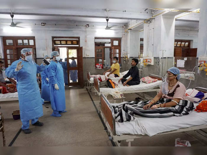 Kanpur: Doctors attend patients in the COVID-19 ward of the Hallet Hospital, in ...