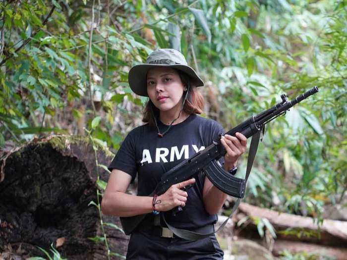 myanmar beauty queen htar htet htet takes up arms against junta