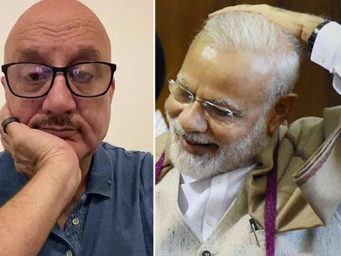 Anupam Kher And Narendra Modi
