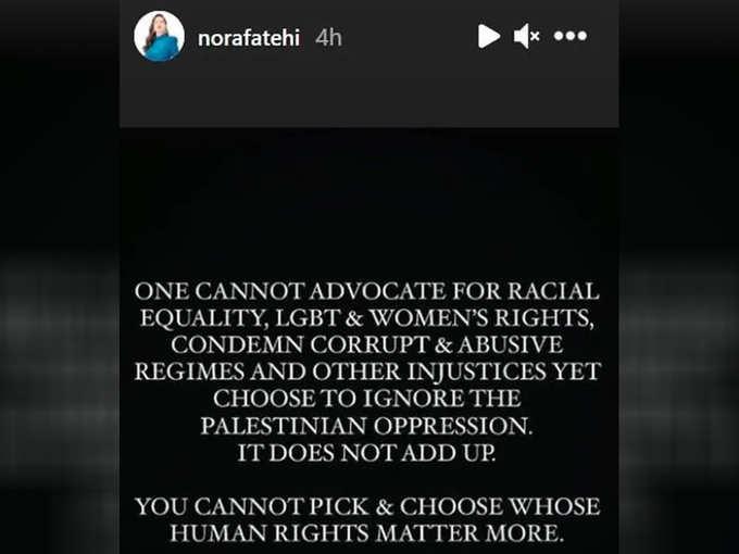 Nora Fatehi Instagram Story