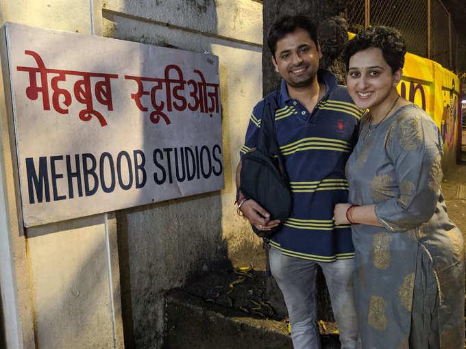 Karmaveer Singh Chikara with wife Aarti Chikara