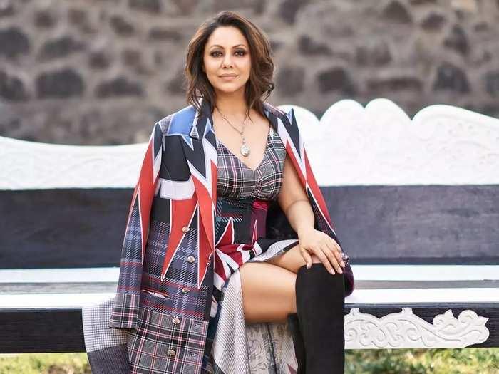 shahrukh khan wife gauri khan trolled for glamorous photoshoot designer falguni shane peacock in marathi