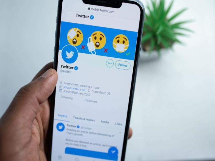 Blue Tick on Twitter
