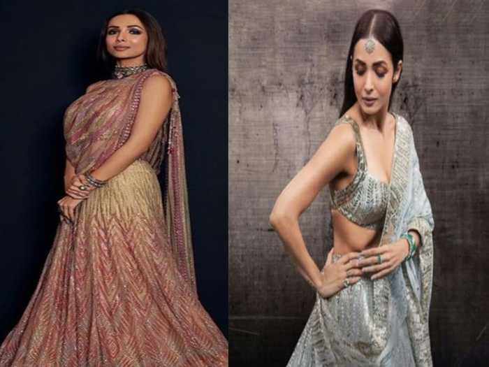 malaika arora stylish saree collection for a perfect party and wedding function