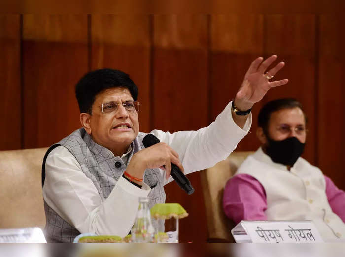 New Delhi: Union Railways Minister Piyush Goyal addresses a press conference on ...
