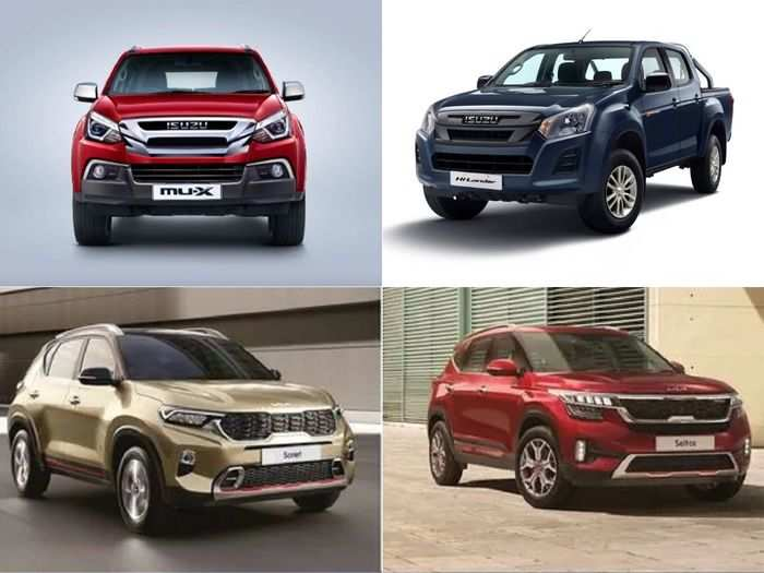 2021 kia sonet to 2021 kia seltos to isuzu d-max v-cross bs6 to isuzu mu-x bs6 here are four latest car that launched in may 2021