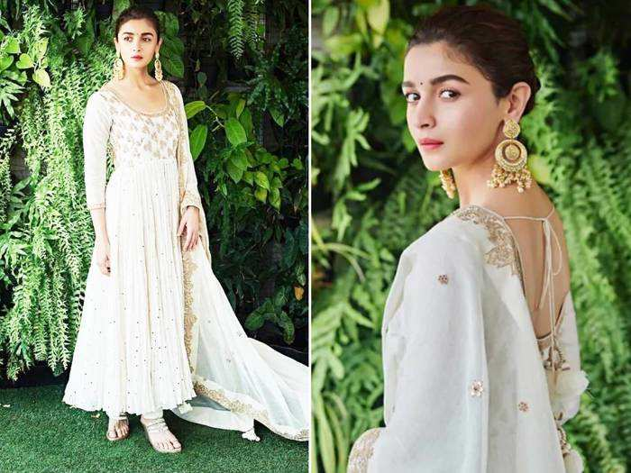 alia bhatt white dress beautiful looks and unique outifts