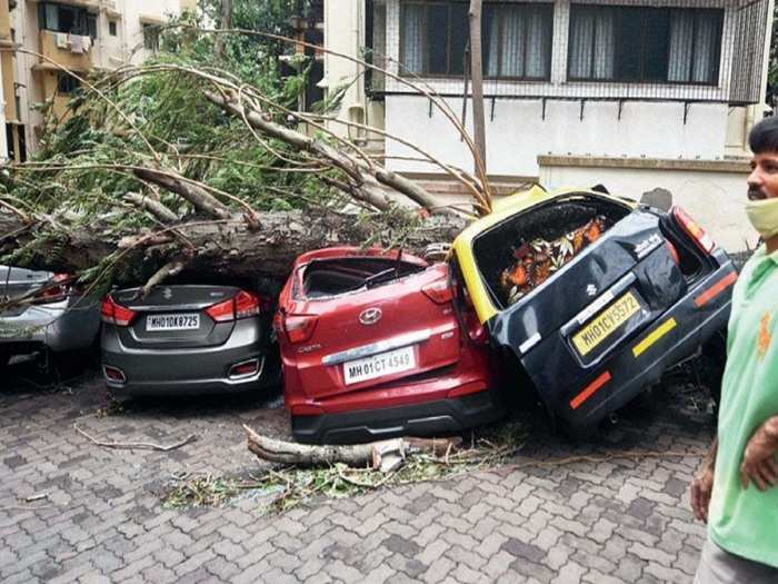 cyclone tauktae in mumbai these pictures reveals huge damage due to rain