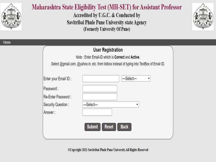 Maharashtra SET 2021