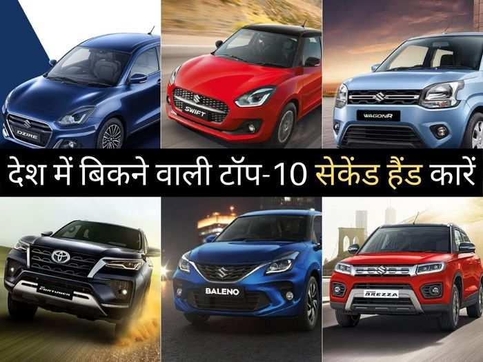 maruti suzuki wagonr to swift to dzire to hyundai creta to innova crysta here are top 10 best seeling used cars in india