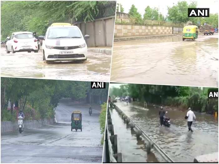 delhi-ncr rain today with wind weather news light showers bring down mercury in capital
