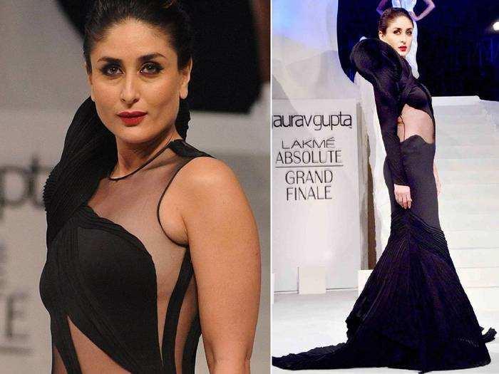 kareena kapoor khan looks super hot in anamika khanna at lakme fashion week 2018