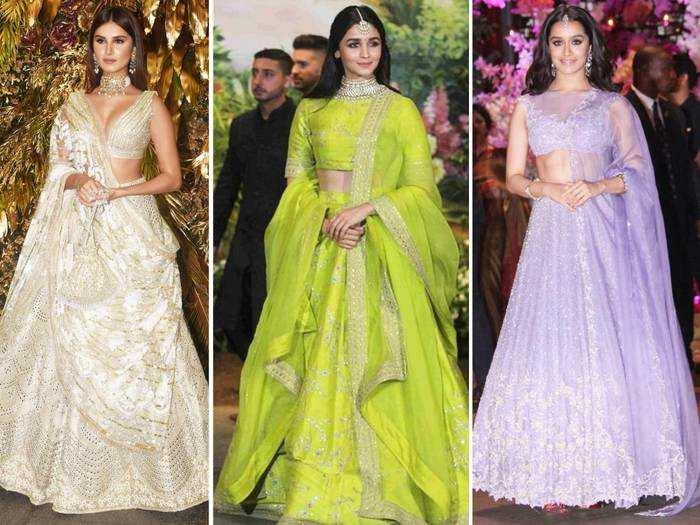 from alia bhatt to tara sutaria bollywood actress lightweight lehengas perfect for intimate weddings
