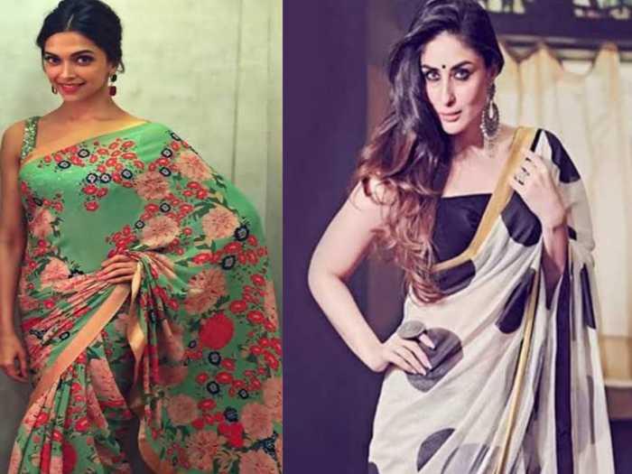 deepika to kareena sarees with lightweight fabric you should wear in summer