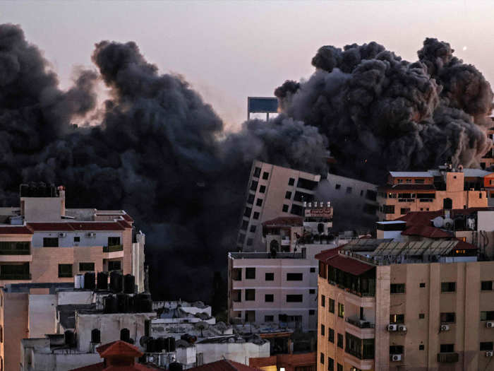 गाजा पर इजरायल का हमला (फाइल फोटो)