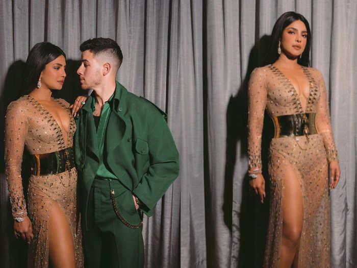 priyanka chopra and nick jonas glamorous photos at billboard music awards 2021