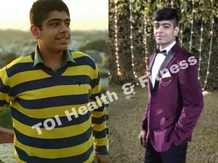 weight loss transformation story suryanamaskar and ghar ka khana helped this boy lose 19 kilos