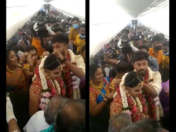 Madurai couple gets married on airplane