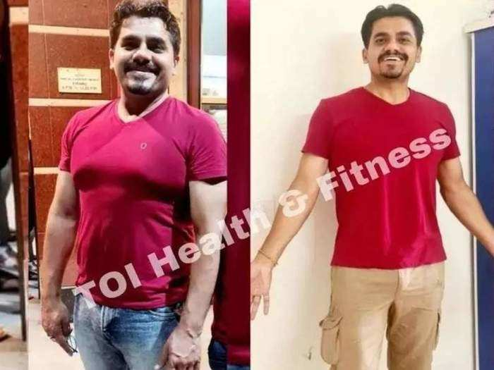 man who lost 16 kg in 60 days with proper diet and exercise plan in marathi