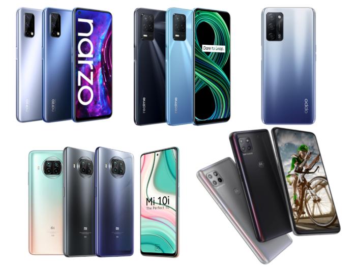 top 5 cheapest 5g smartphones in india includes oppo a53s 5g realme 8 5g moto g 5g xiaomi mi 10i