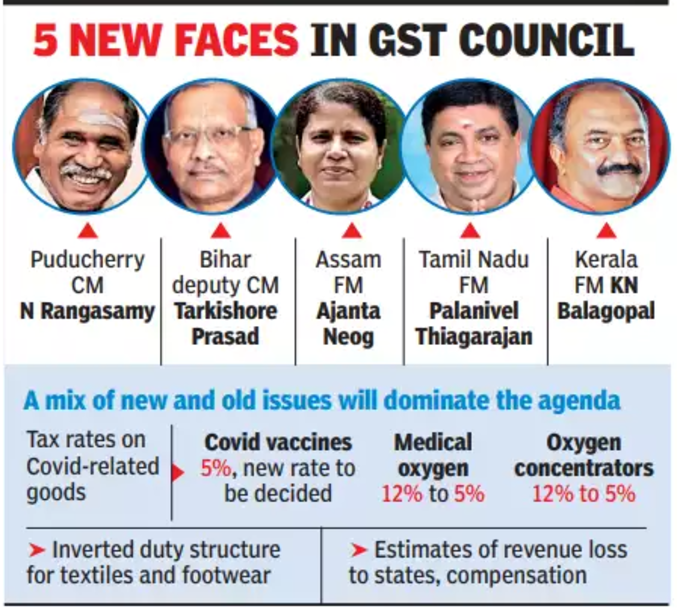 Newcomers joining the GST Council.