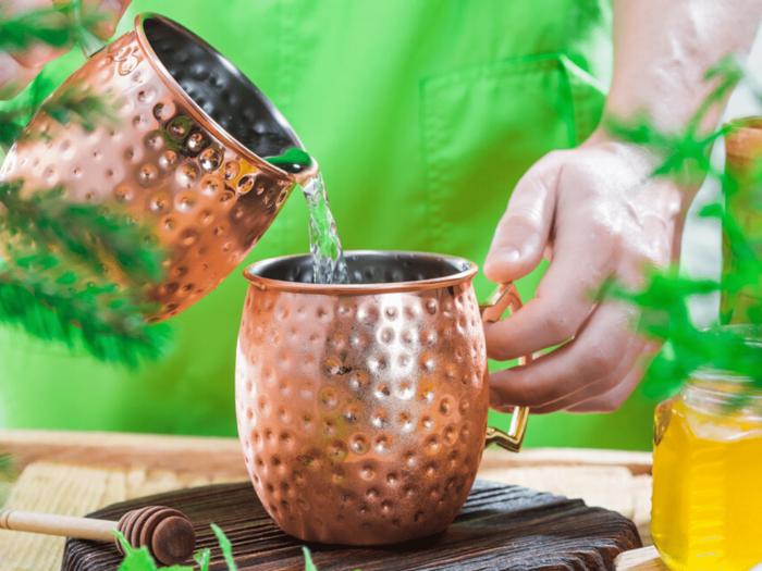 should pregnant women drink water from copper utensil in marathi