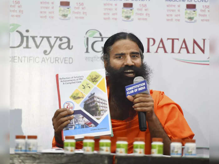New Delhi: Baba Ramdev releases the scientific research papers on the Patanjali...