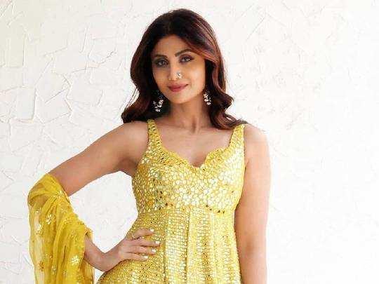 shilpa shetty kundra yellow sharara: चमकीले कपड़ों में जुल्फें लहरातीं शिल्पा शेट्टी ने बढ़ाई गर्मी, खूबसूरत हसीना के आगे करीना-मलाइका भी पड़ गईं फीकी - shilpa ...