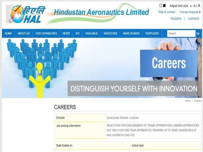 Hindustan Aeronautics Limited Jobs 2021