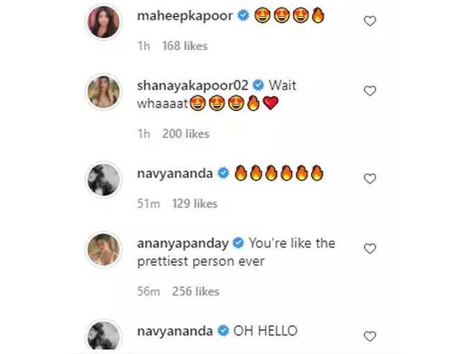 Comments On Suhana Khan Post