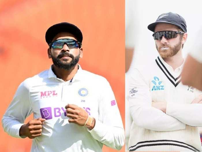 Mohammed Siraj and Kane Williamson Test