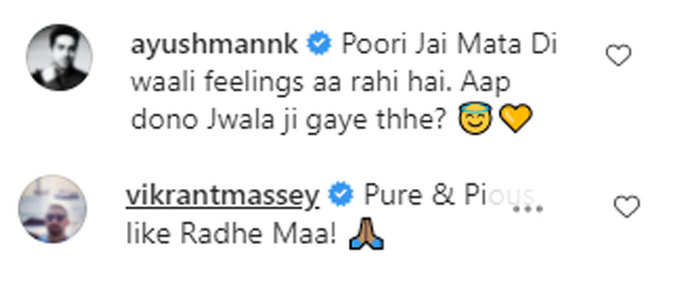 Ayushmann and Vikrant Massey's comments on Yami's photo