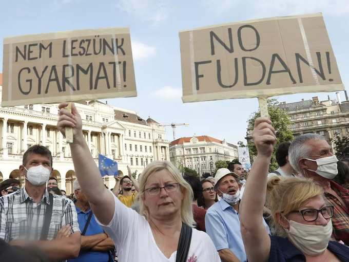 Hungary Protest.