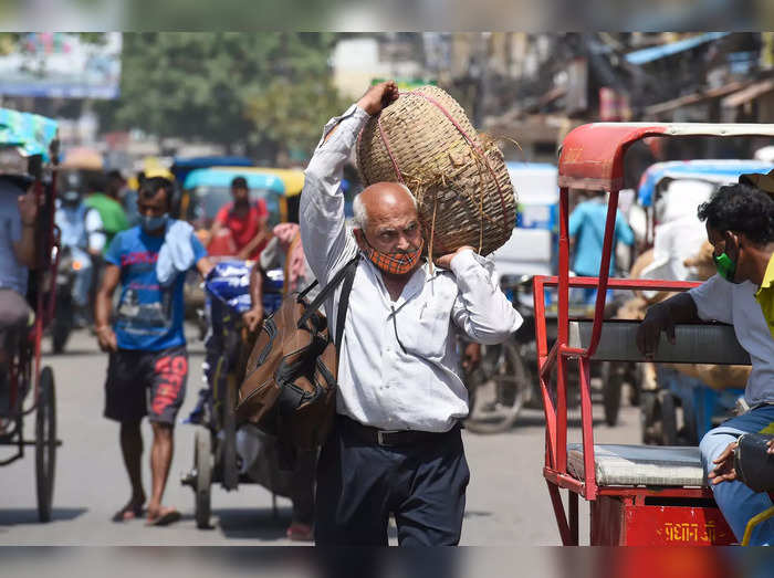 New Delhi: People on a street at Chandni Chowk in Old Delhi. The Delhi governmen...