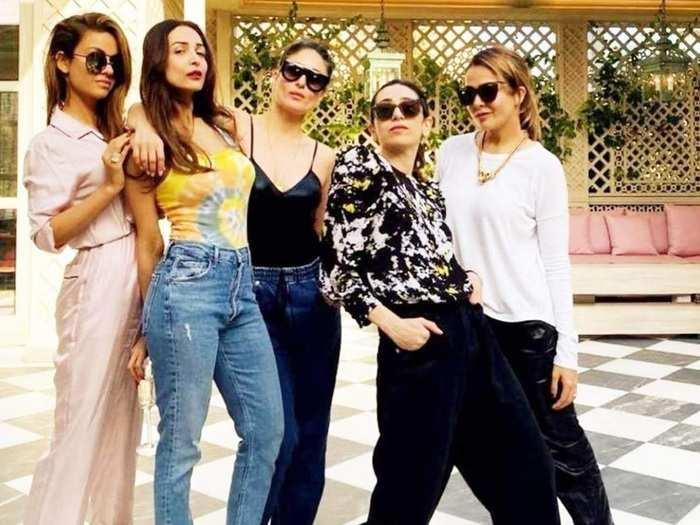 kareena kapoor khan and gauri khan wore super bold and glamorous dress for actress malaika arora birthday party in marathi