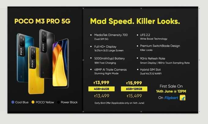 Poco M3 Pro 5G Price In India