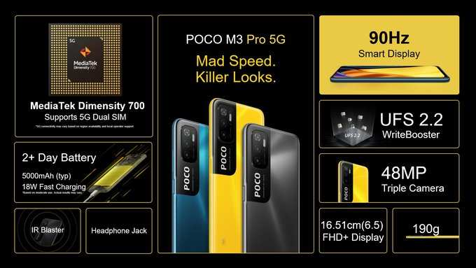 Poco M3 Pro 5G Specifications