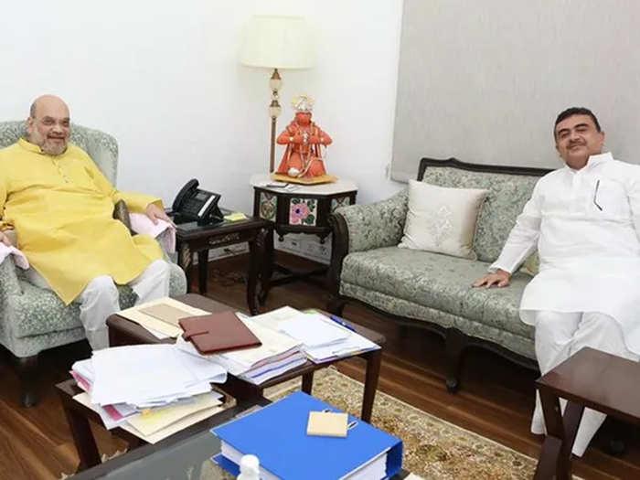 केंद्रीय गृहमंत्री अमित शाह से मिले सुवेंदु अधिकारी