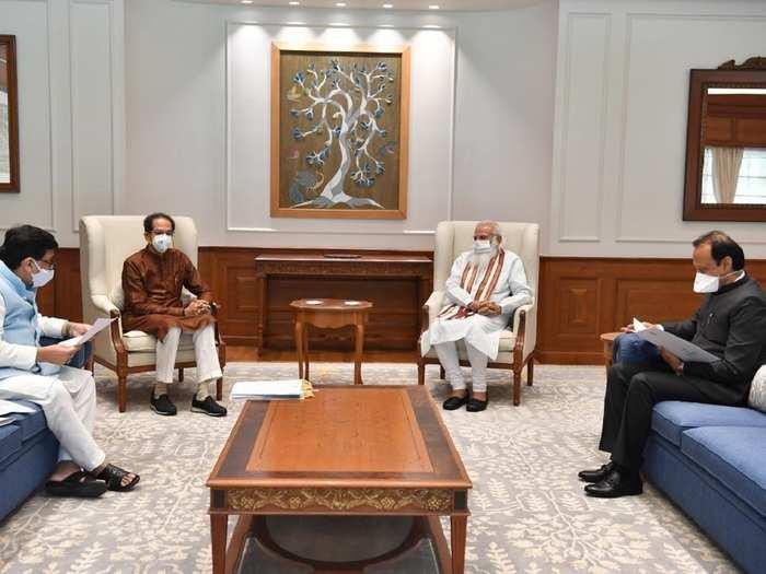 Uddhav Thackeray meets PM Modi.