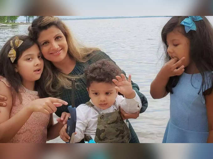 Rambha With Kids