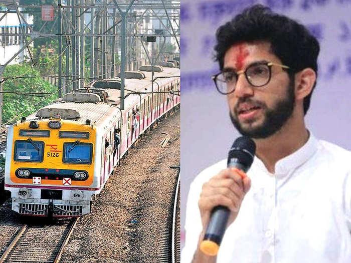 Aaditya Thackeray on Mumbai Local Train